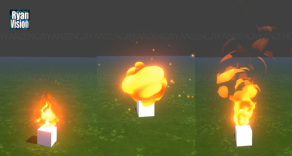 ArtStation - Cartoon Fire effect in Unity, Zeng Ryan