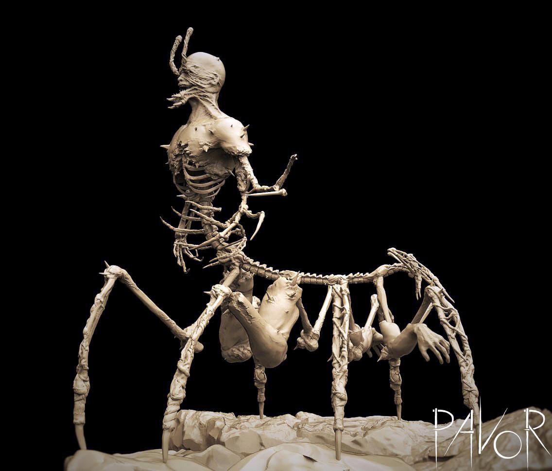 Zbrush sculpt, Keyshot render