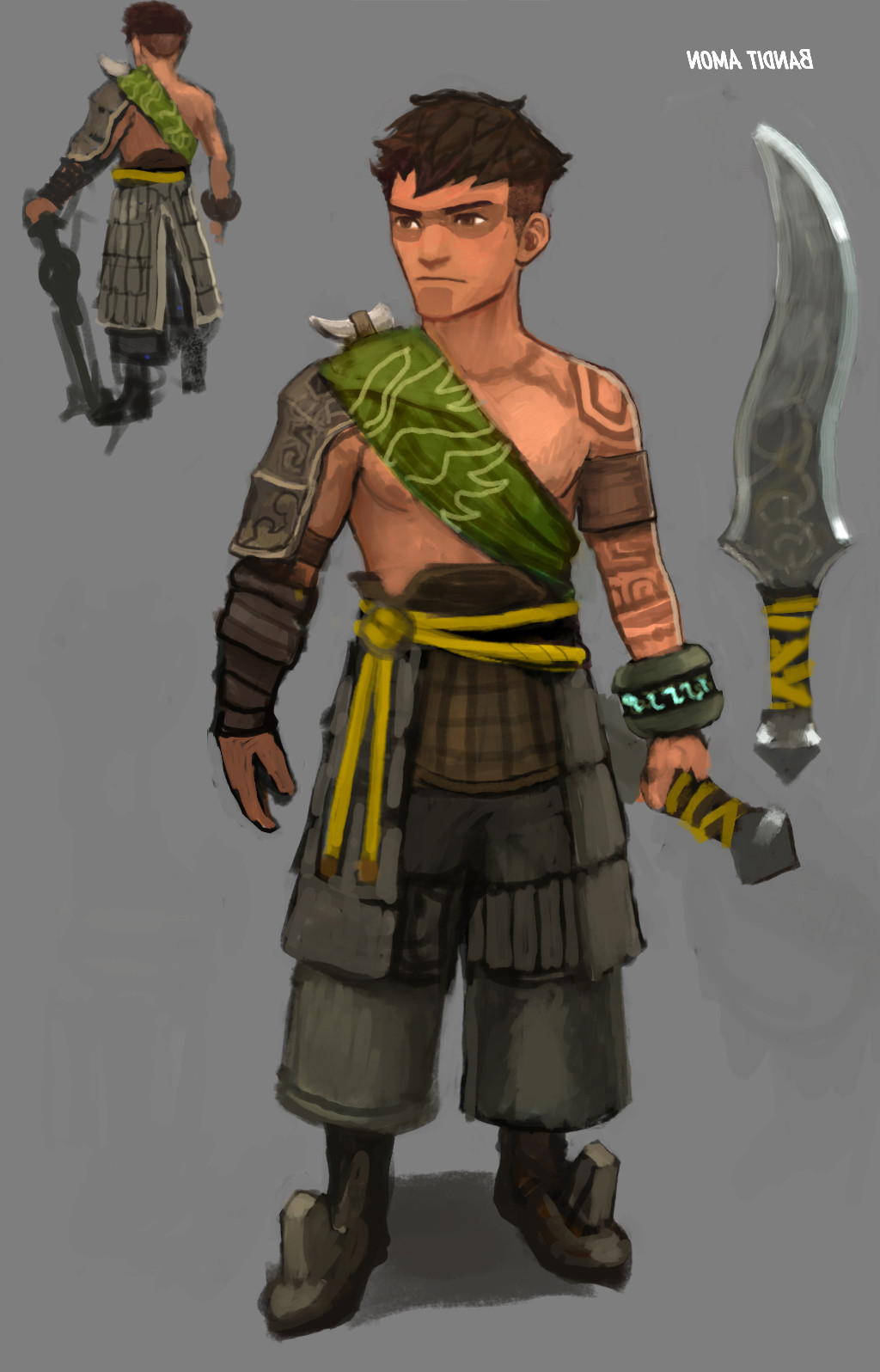 Concept for Amon's Bandit outfit.