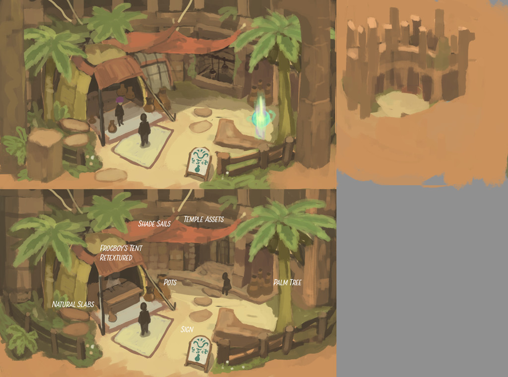 Concept for a desert shop.