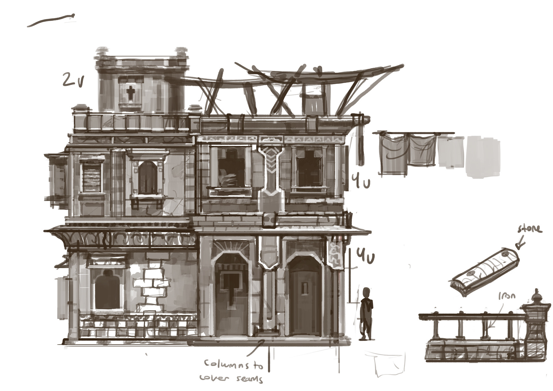 Building kit sketch to figure out how to build the houses in Zaber.