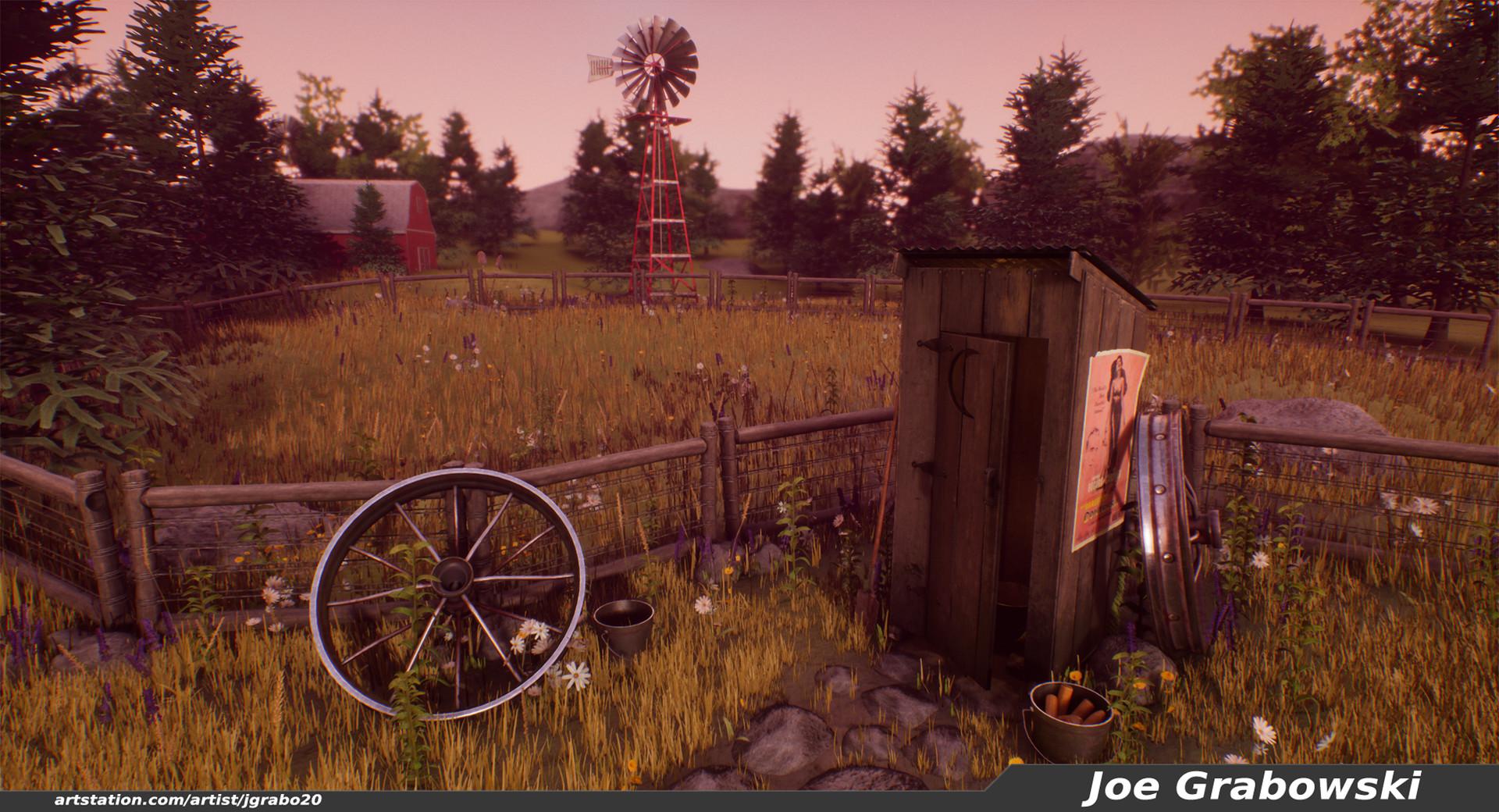 ArtStation Farm Outhouse Joe Grabowski