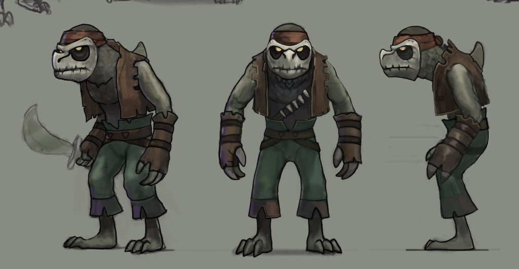 The Droogos went through different design iterations, partly to make them more humanoid.