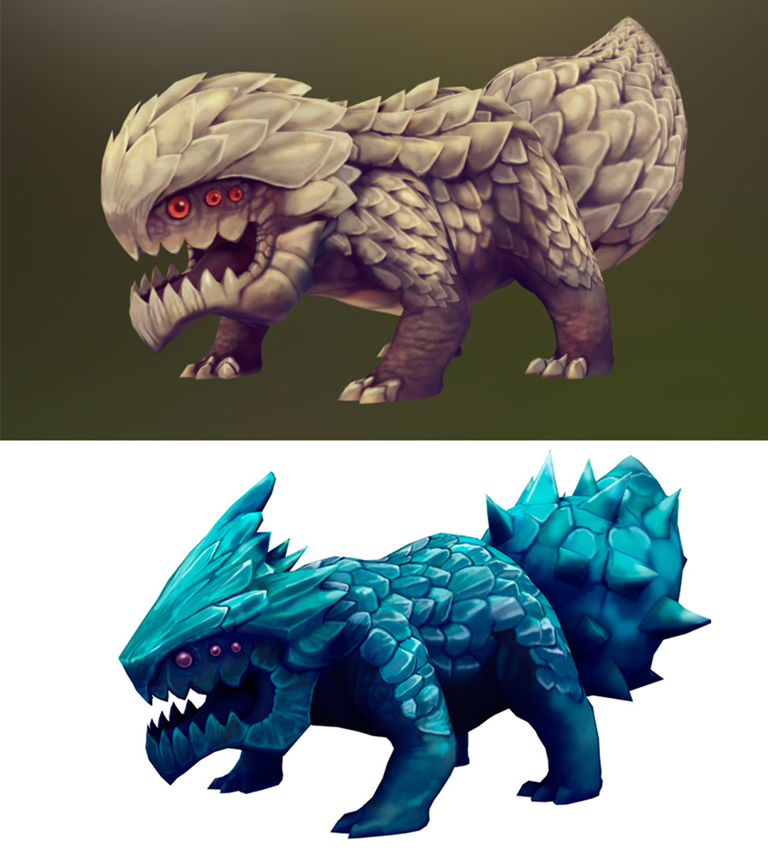 In-game asset for the Quadragon.