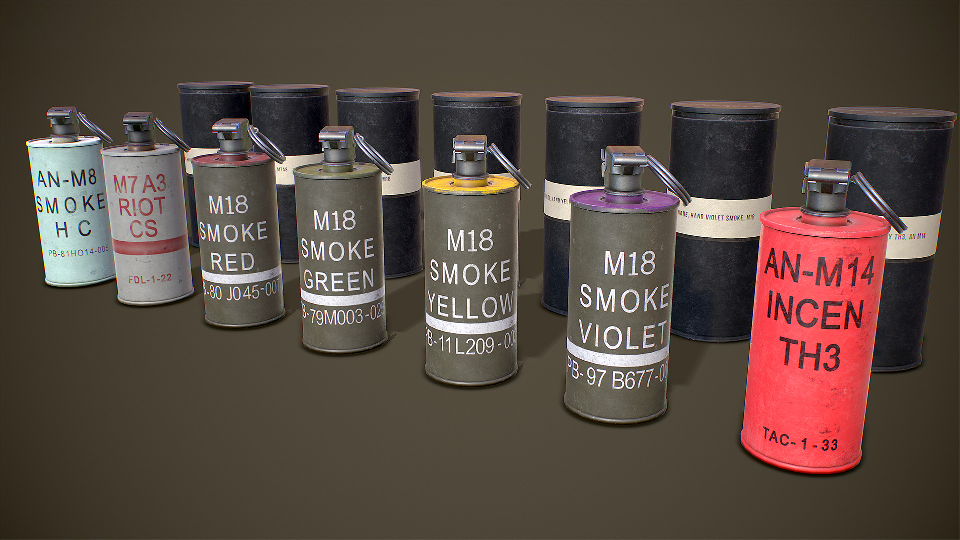 ArtStation - AN M18 Smoke Grenade and other ammunition, Rama Marines