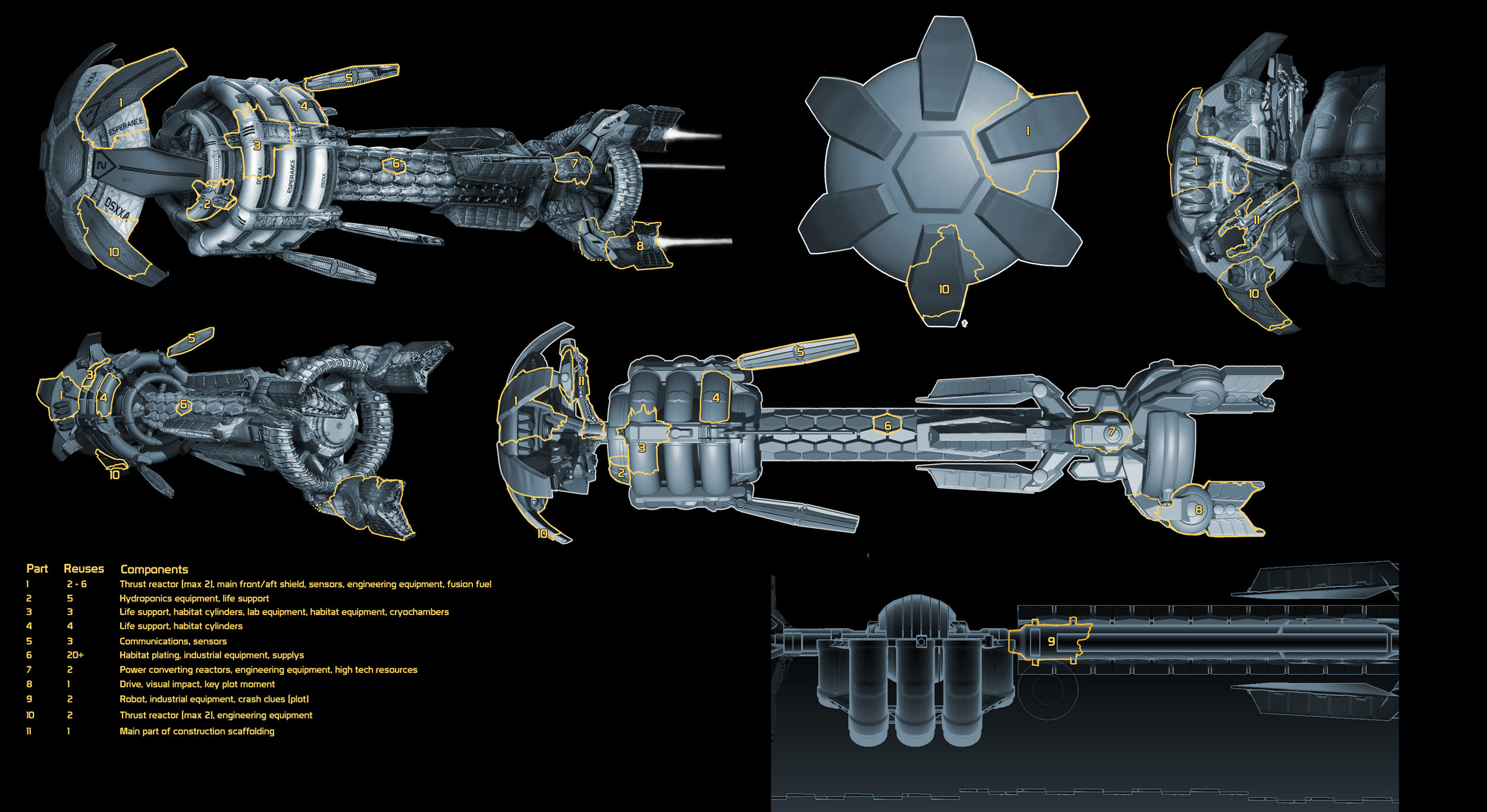 Grimm Odds - Spaceship wreckage breakup