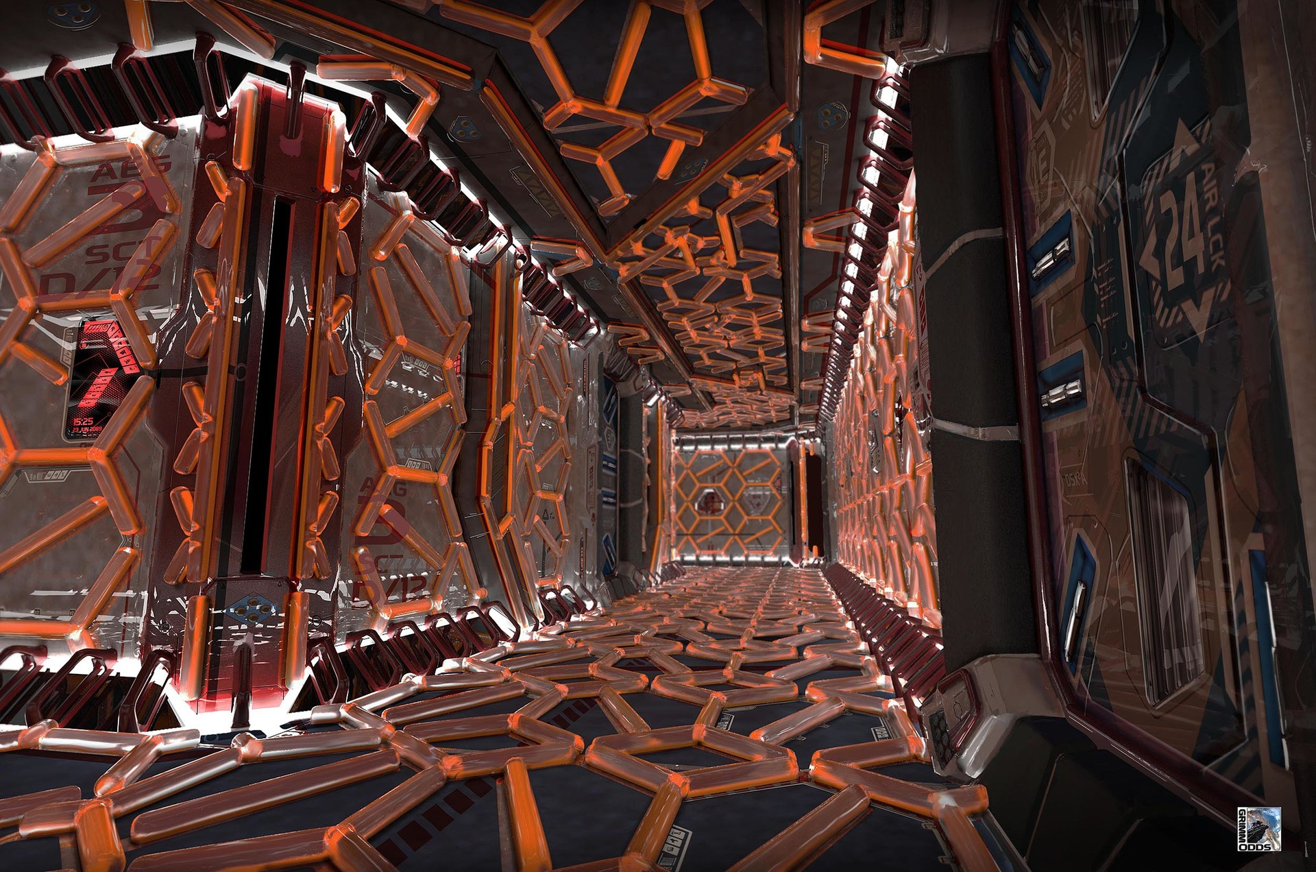 Francis goeltner grimmodds vehicles esperance interiorscenes corridor01 emergency plainsig m
