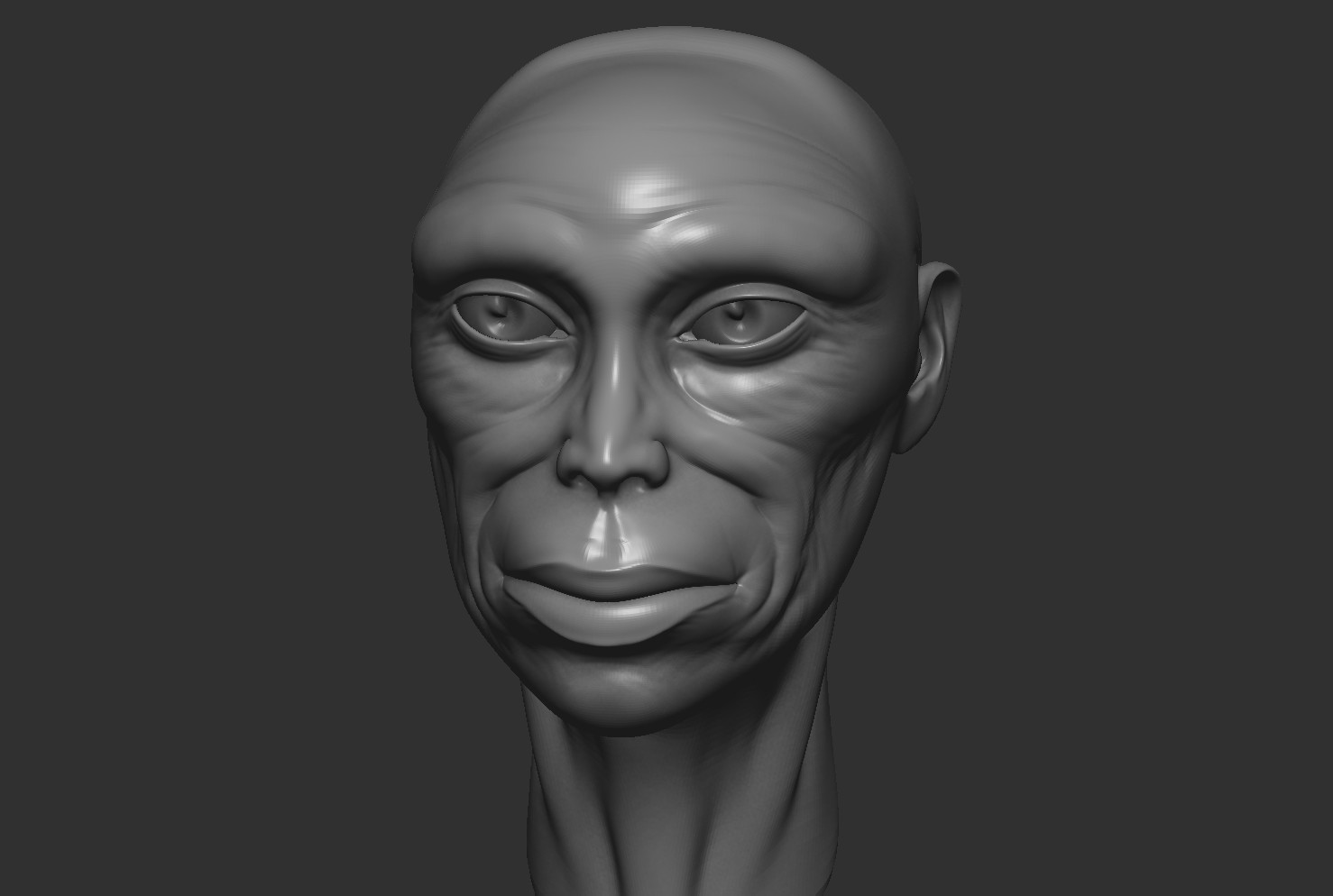 Another 1 hour sculpt in ZBrush.