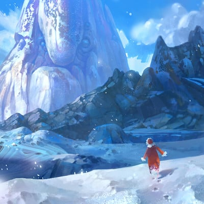 Red hong daily snow mountain 1