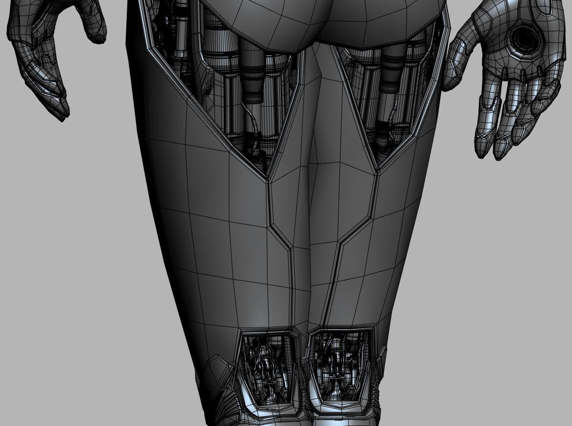 David letondor robotskin davidletondor v6 wireframe