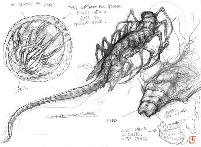 Stephane levallois paradise centipede face hugger p3web