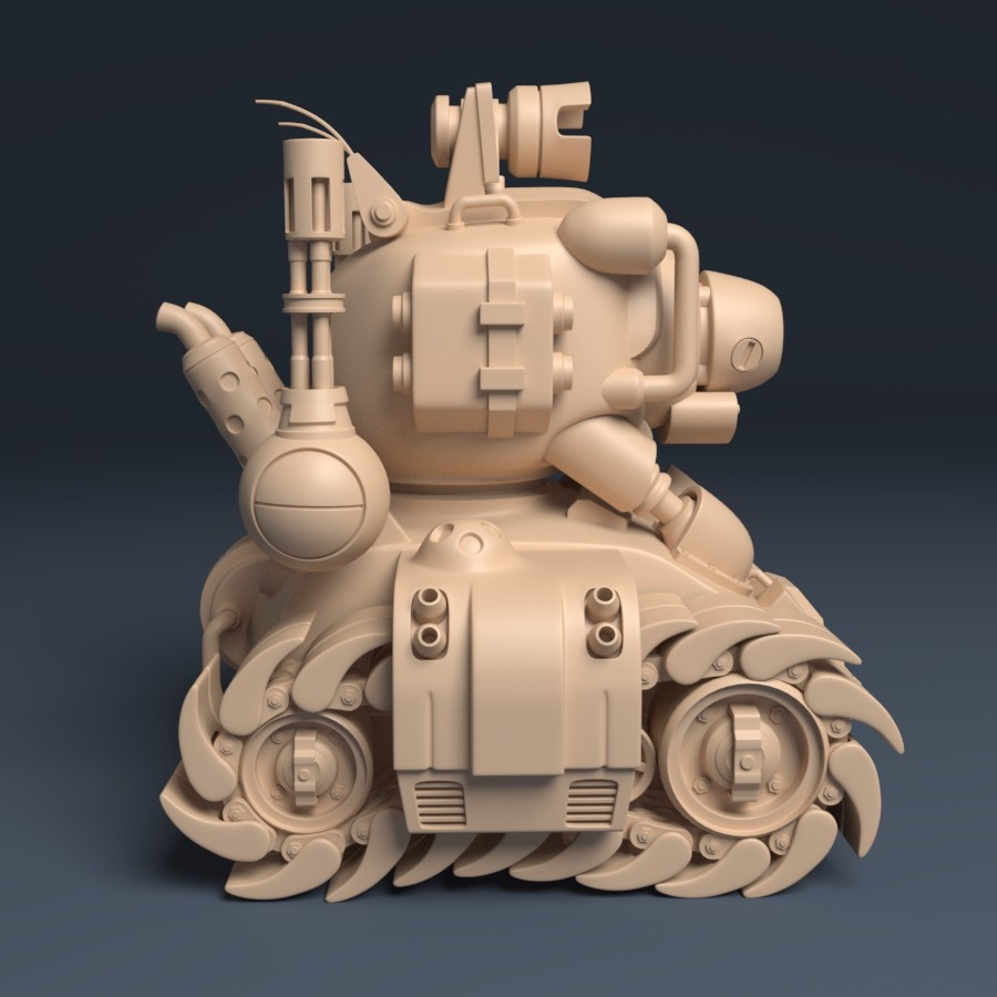 Metal Slug Tank - SV001 | Side View