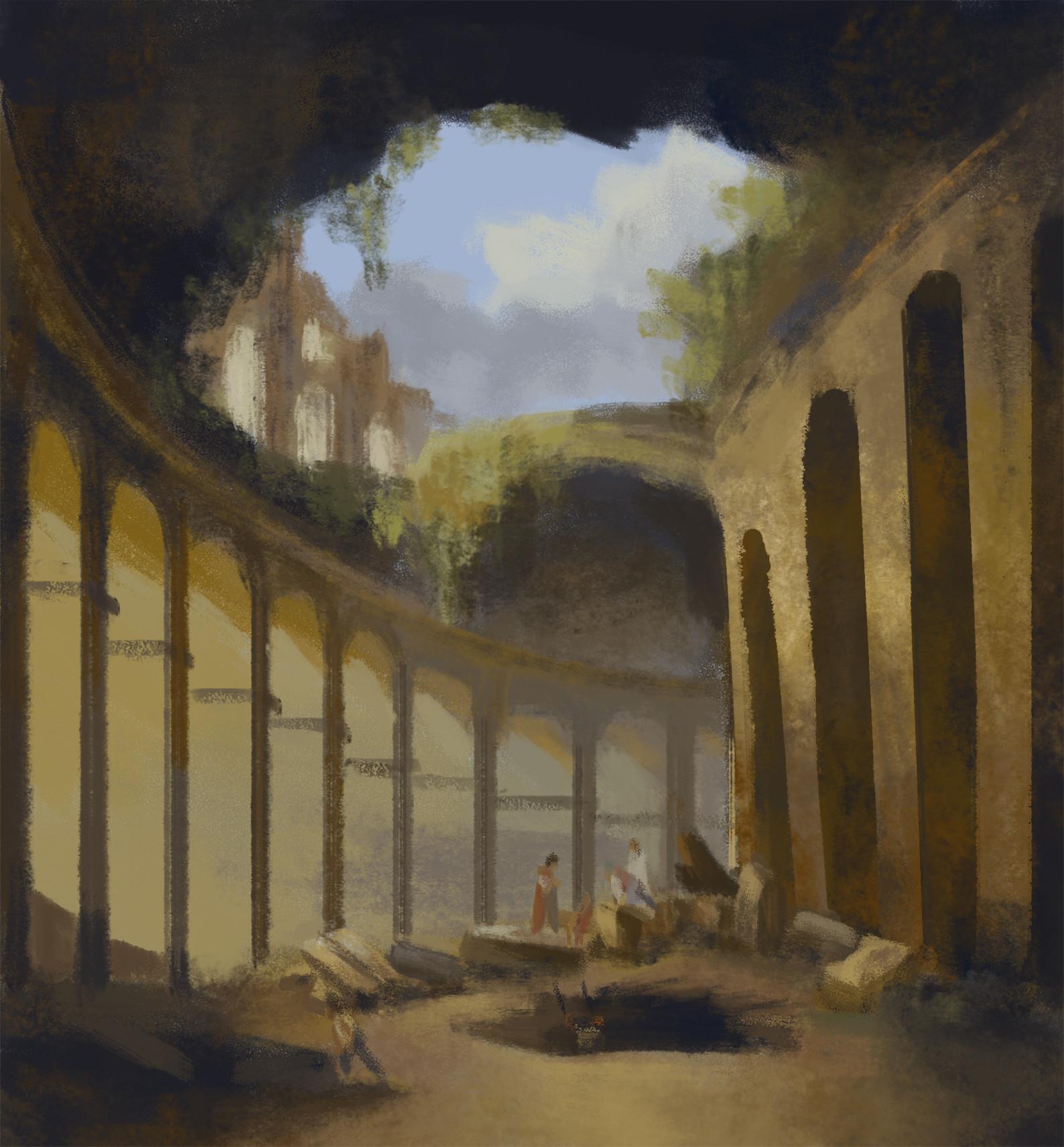 Hubert Robert: El Coliseo De Roma - Study