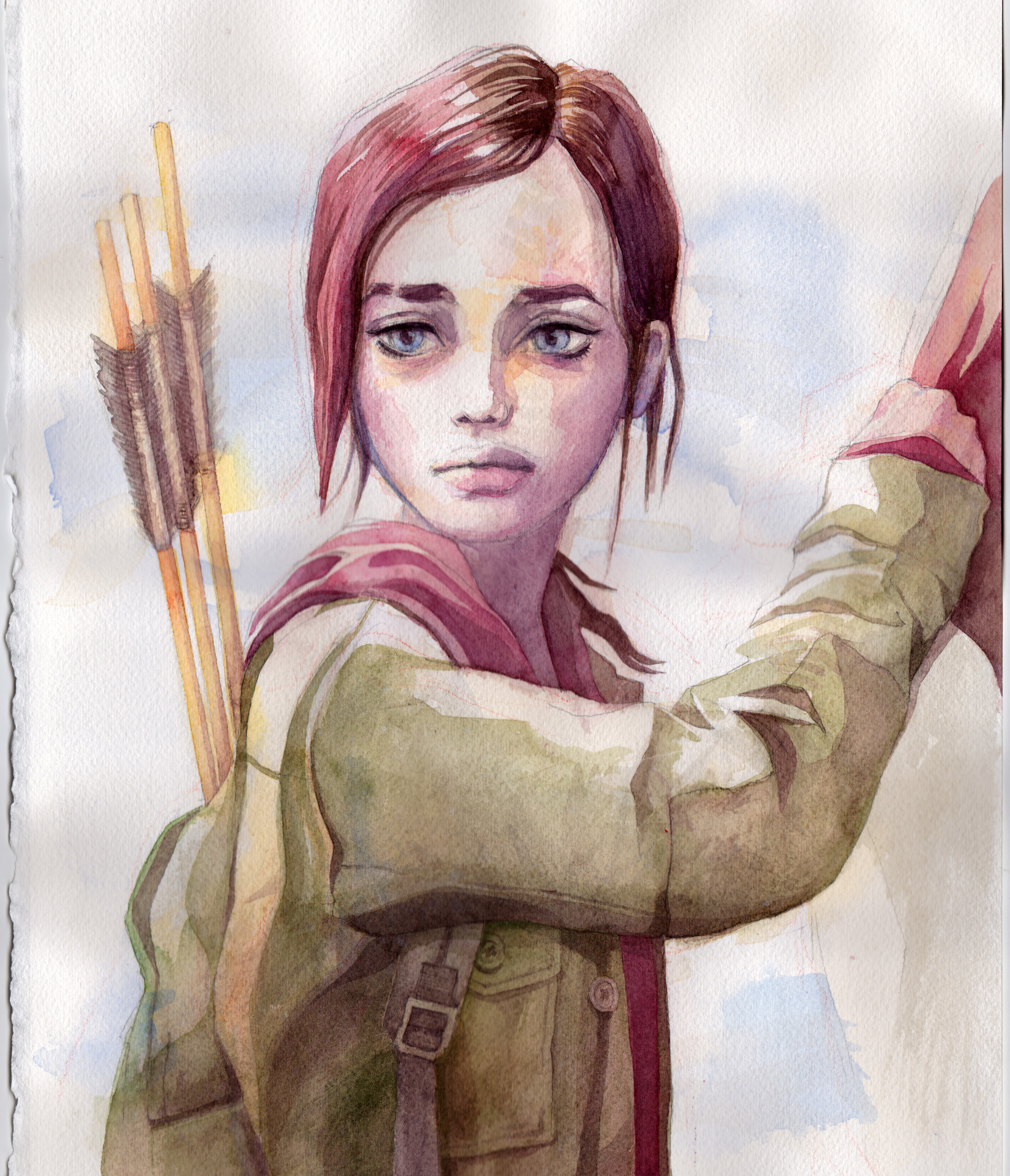Artstation Watercolor Ellie From The Last Of Us Sawa Ho A