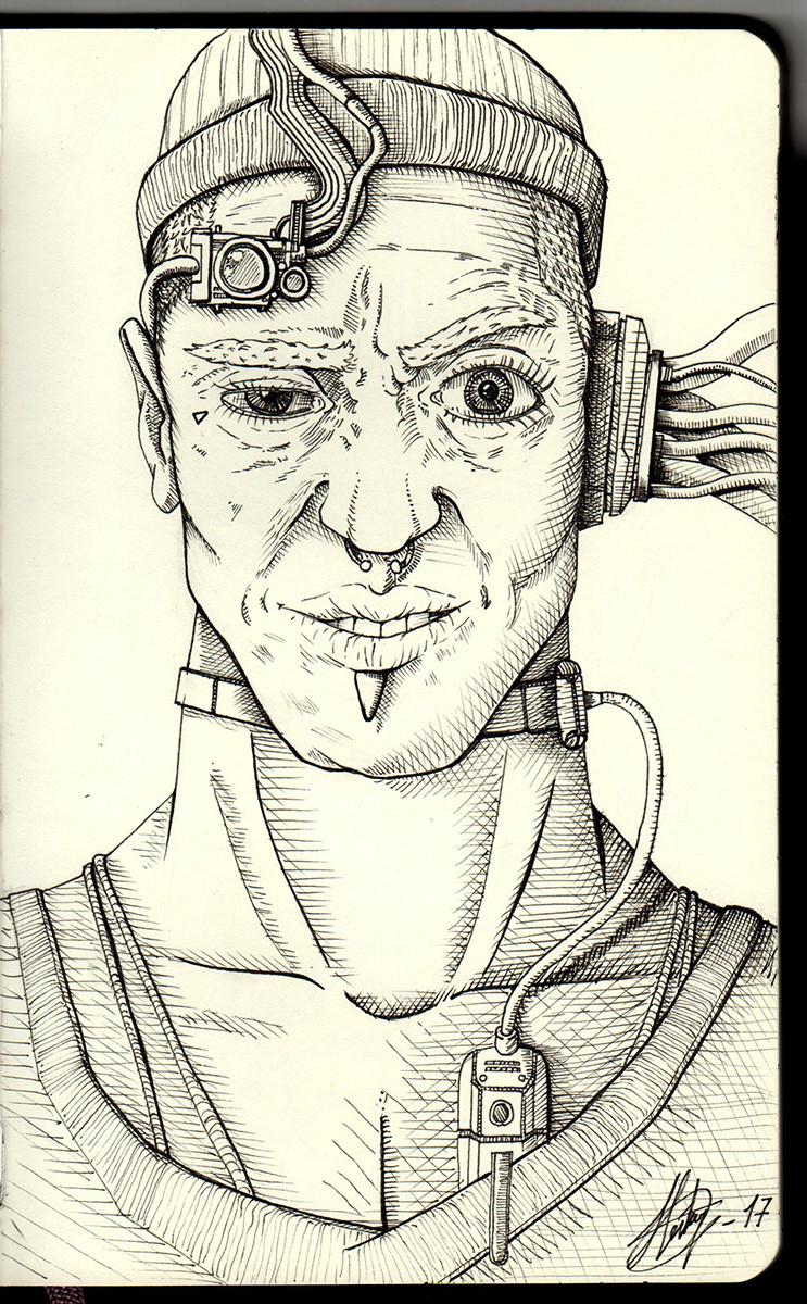 Crazy wired man