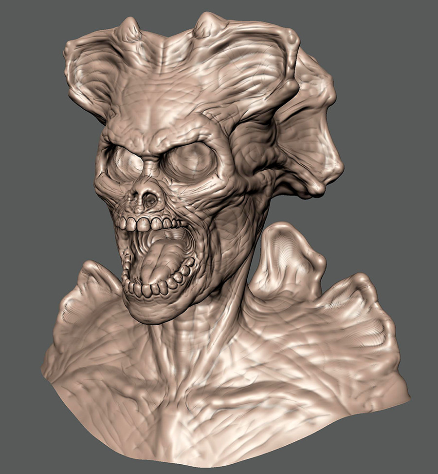 A new Mudbox sculpt.  This one took a little longer...about 3 hours.