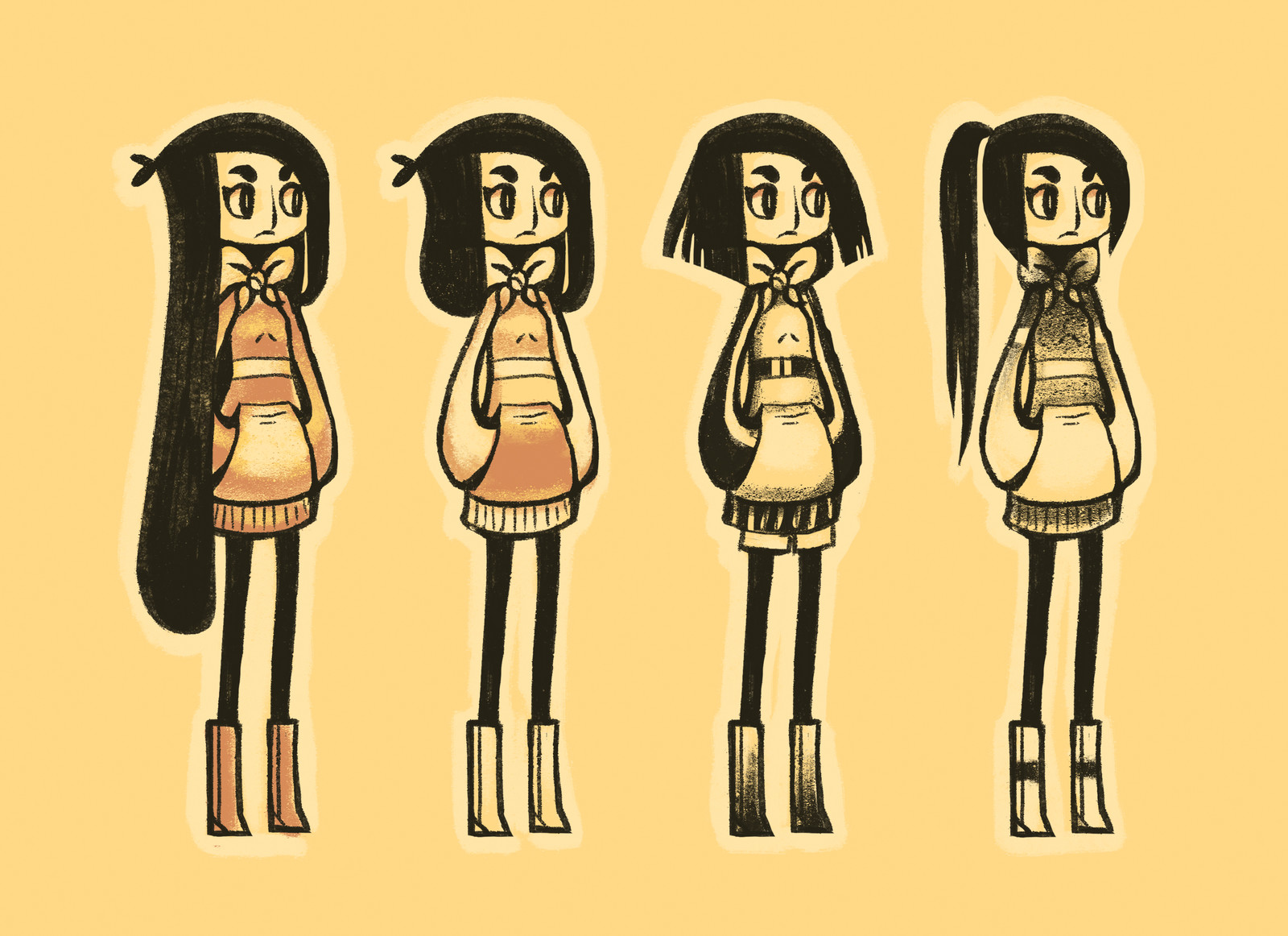 Girl Character Variations