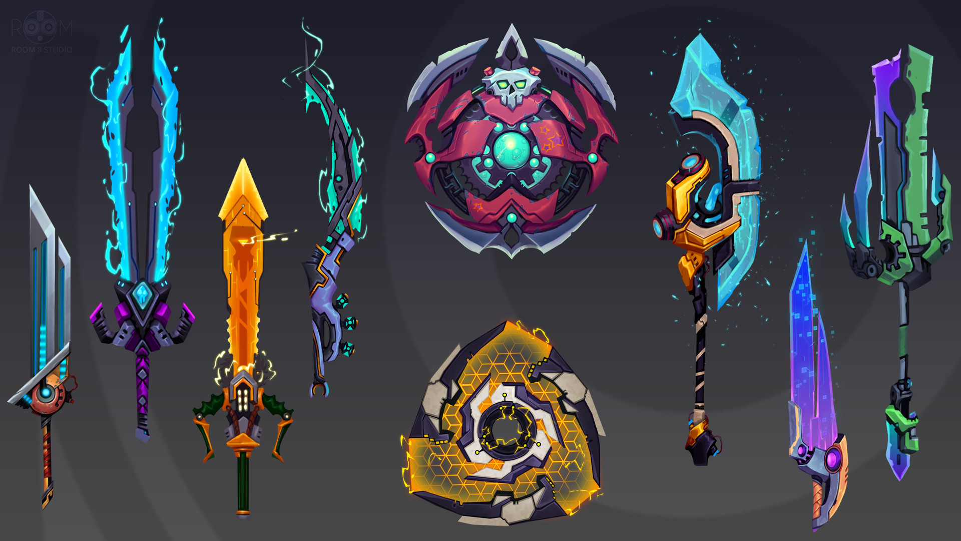 Room 8 studio wildstar stile weapons