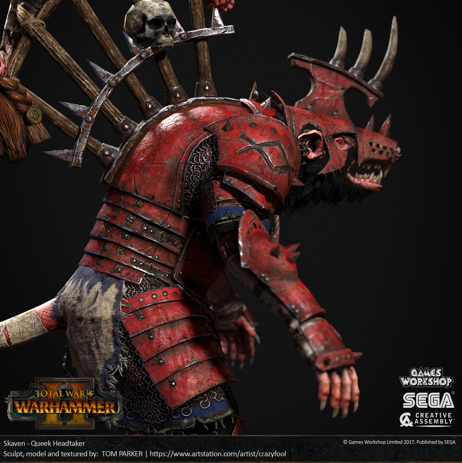 Tom Parker Total War Warhammer 2 Queek Headtaker
