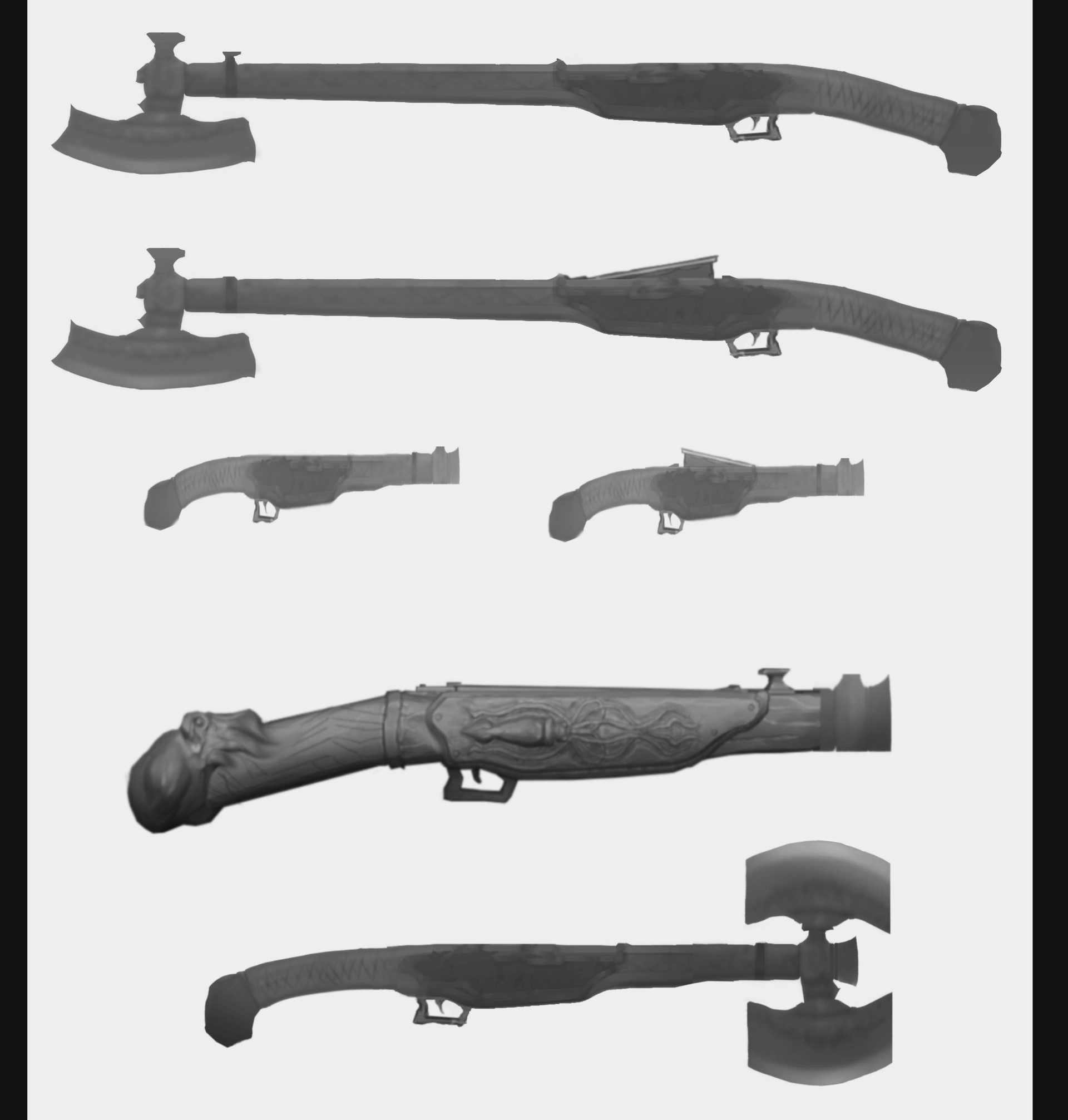Will powell guard weapon design as version