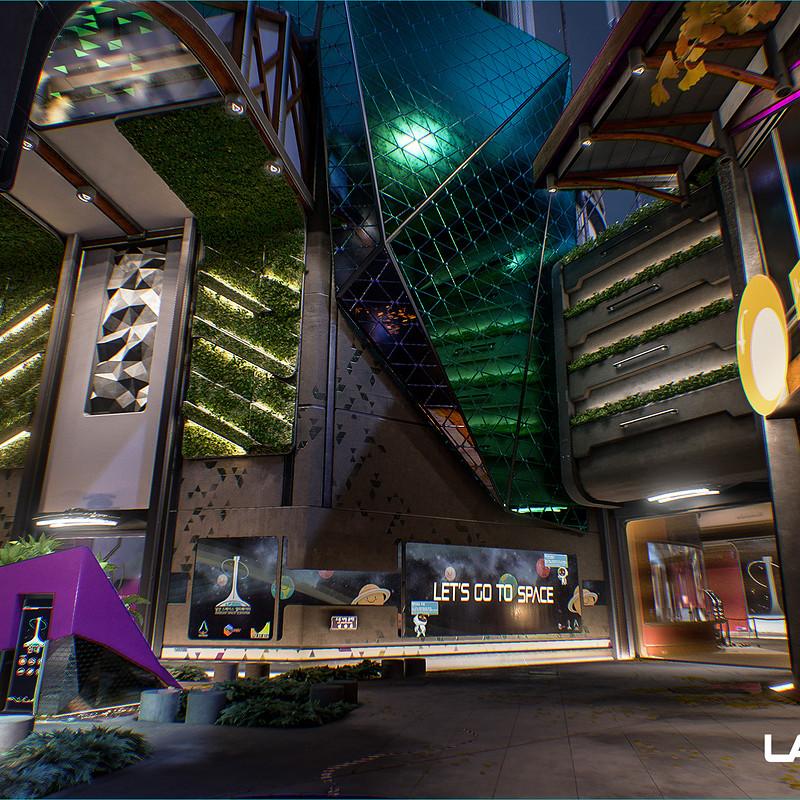 Lawbreakers - Namsan: Center/Upper Facade
