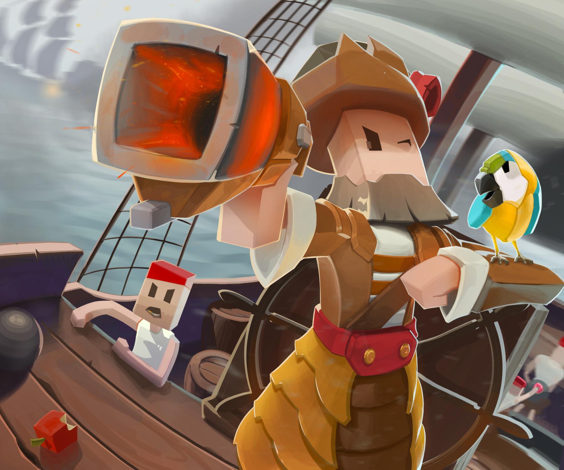 Nicolas morales pirates illustration doughnut