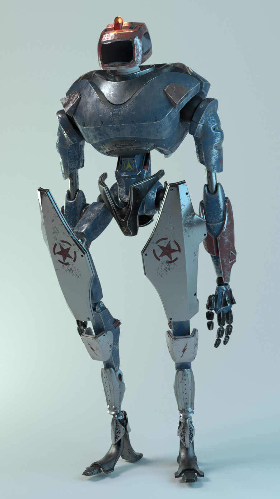AAA-Game Robot. (Inspired from Kent Trammel's CG Cookie Course)