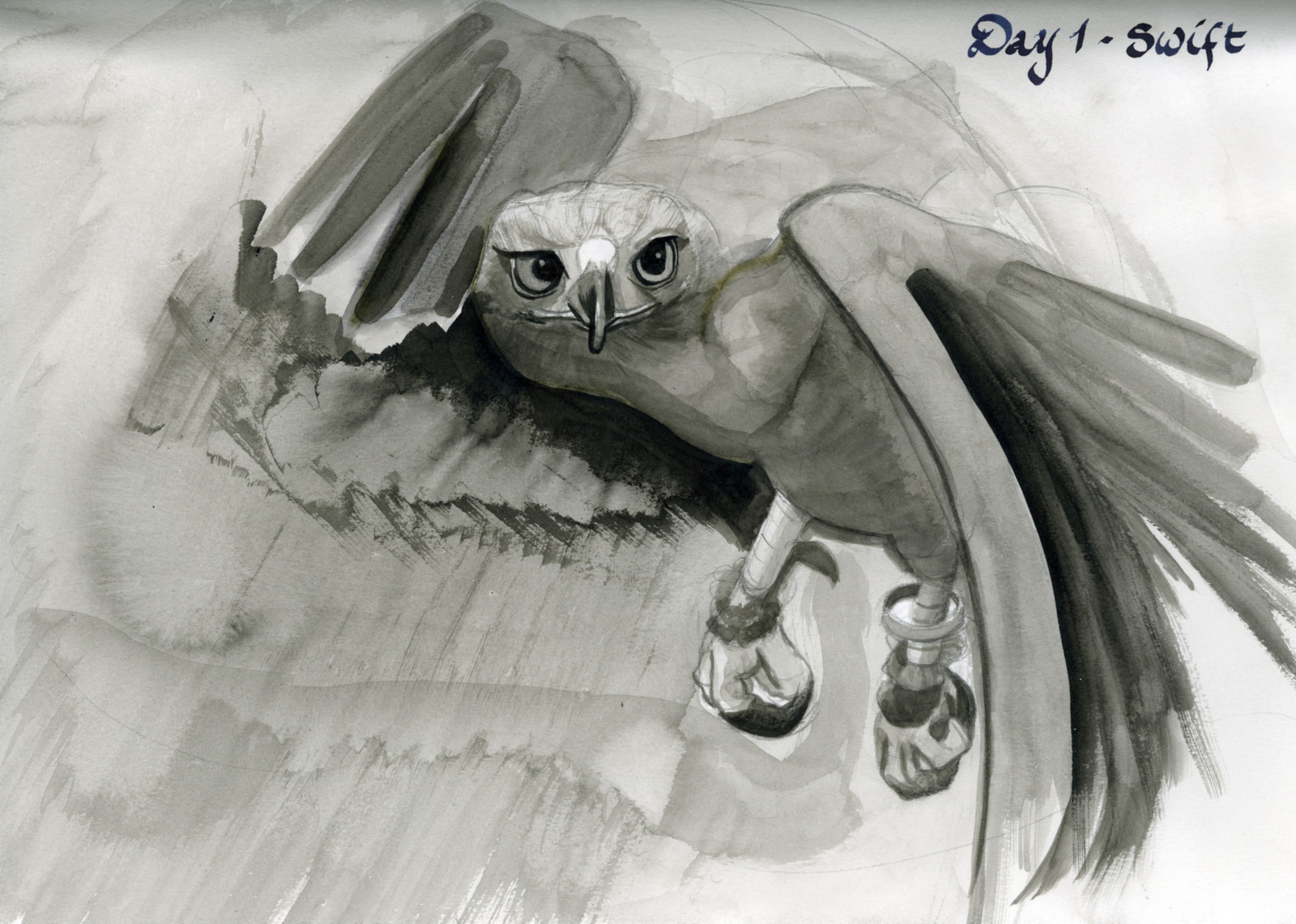 Day 1 - Started my Sunday morning with this inkdrawing of a swift eagle. First participation for #Inktober2017 #inktober #inktober2017