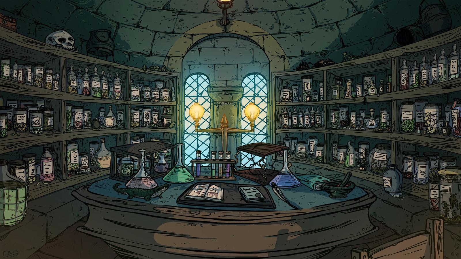 Potion Room | Sala de Poções