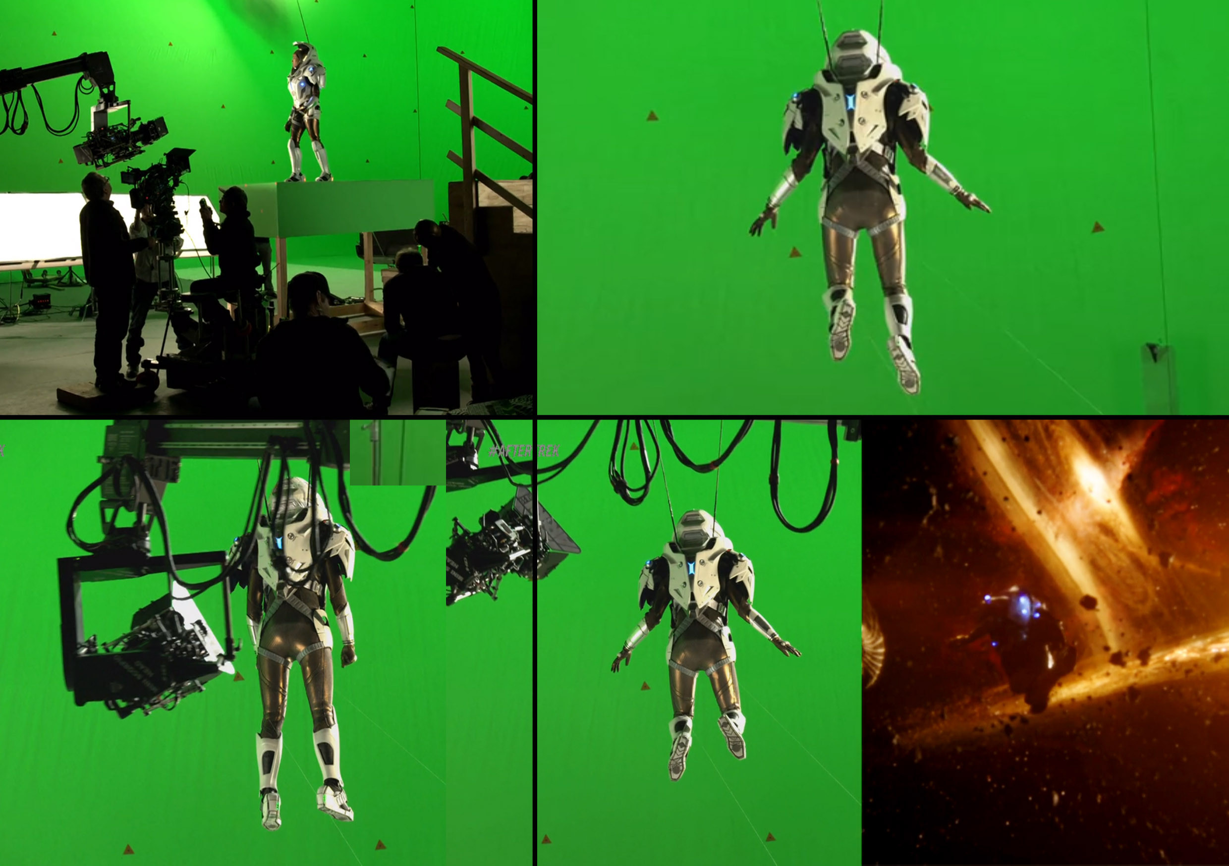 Green screen shots from the making of
