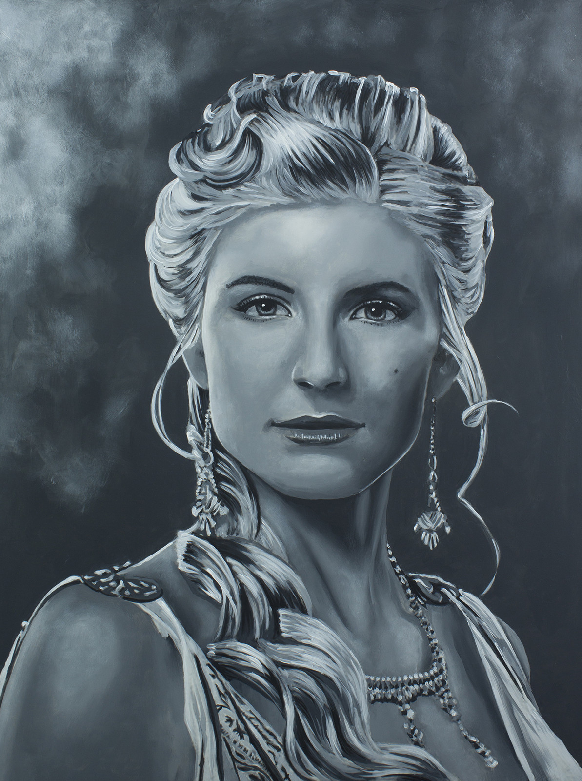 Ilythia - Viva Bianca Spartacus Series - Acrylic on board. 16x20