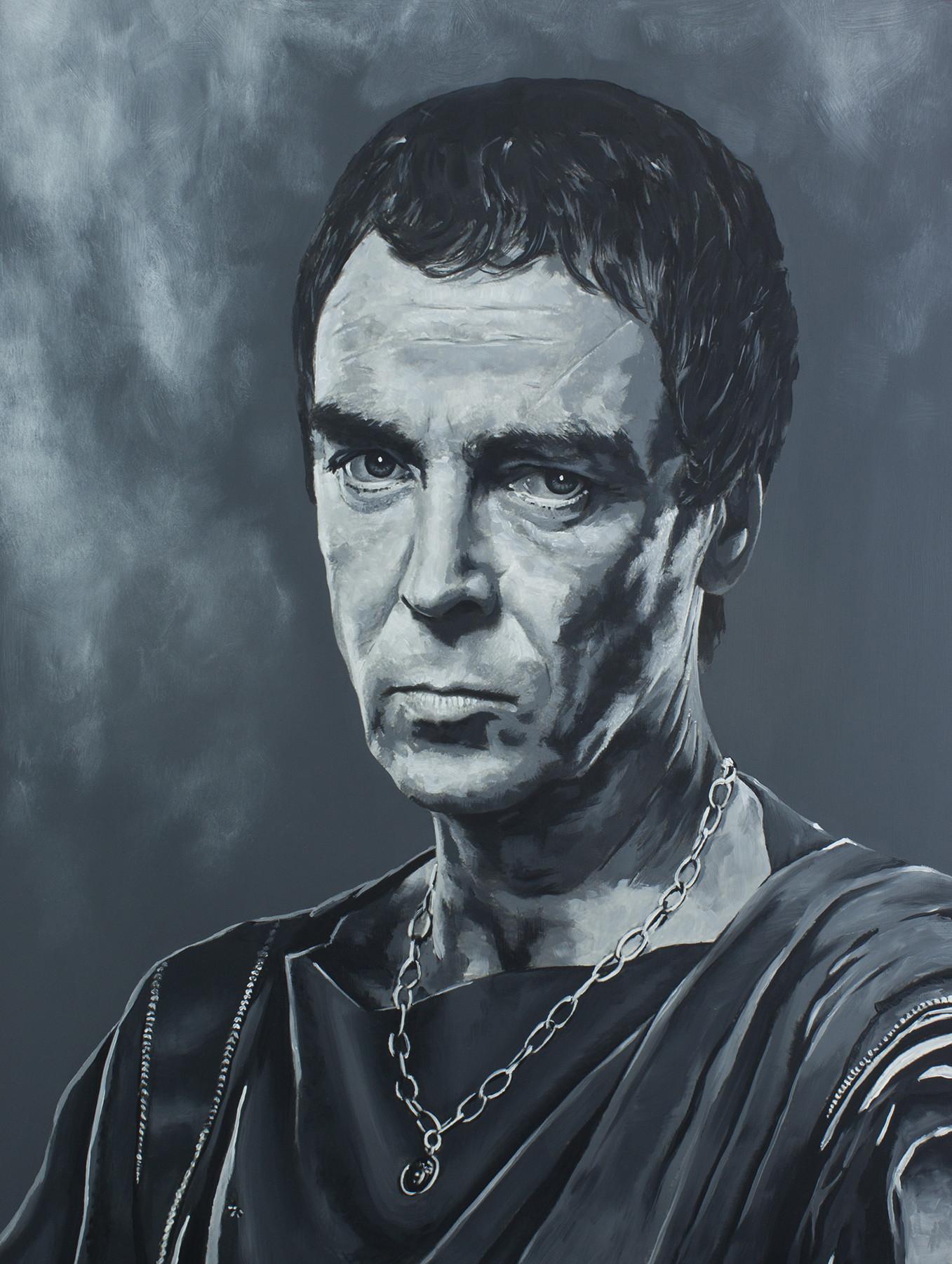 Quintus Lentulus Batiatus - John Hannah Spartacus Series - Acrylic on board. 16x20