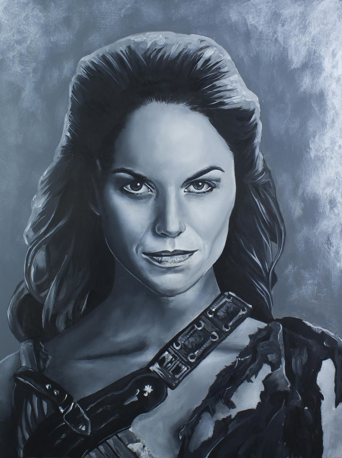 Saxa - Ellen Hollman Spartacus Series - Acrylic on board. 16x20