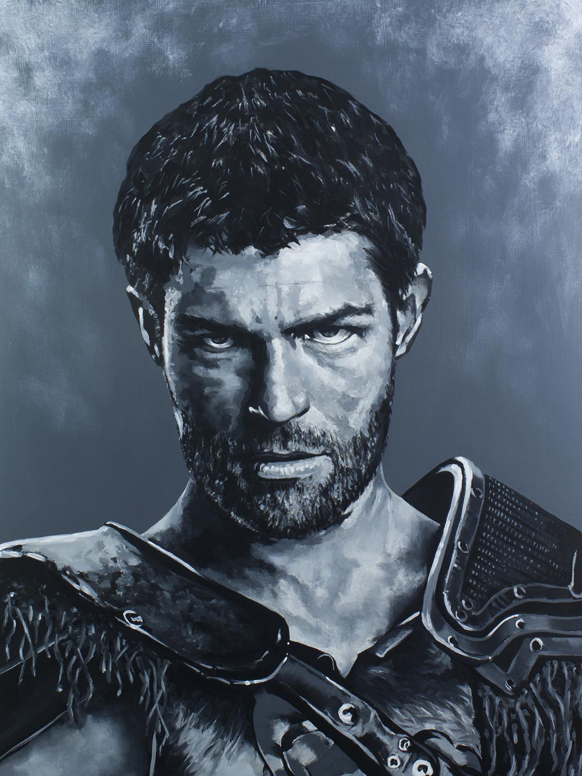 Spartacus - Liam McIntyre Spartacus Series - Acrylic on board. 16x20
