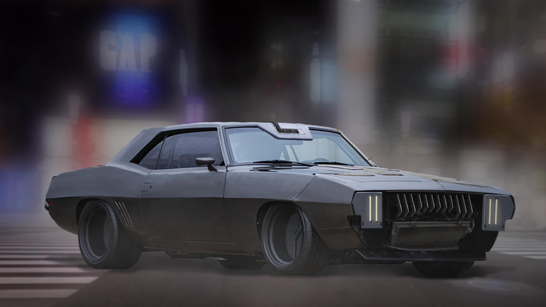 Emile van den berghe cyberpunk muscle car