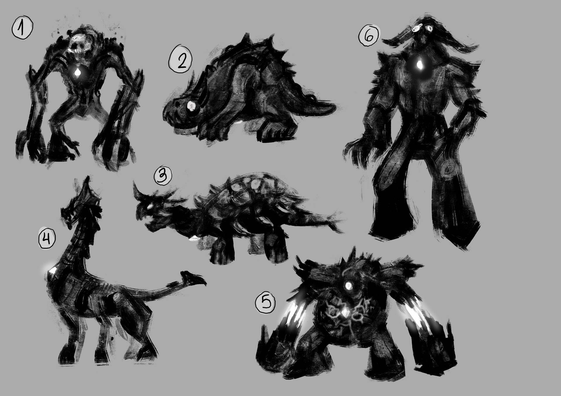 Concept study to make the golem that will carries the stone.