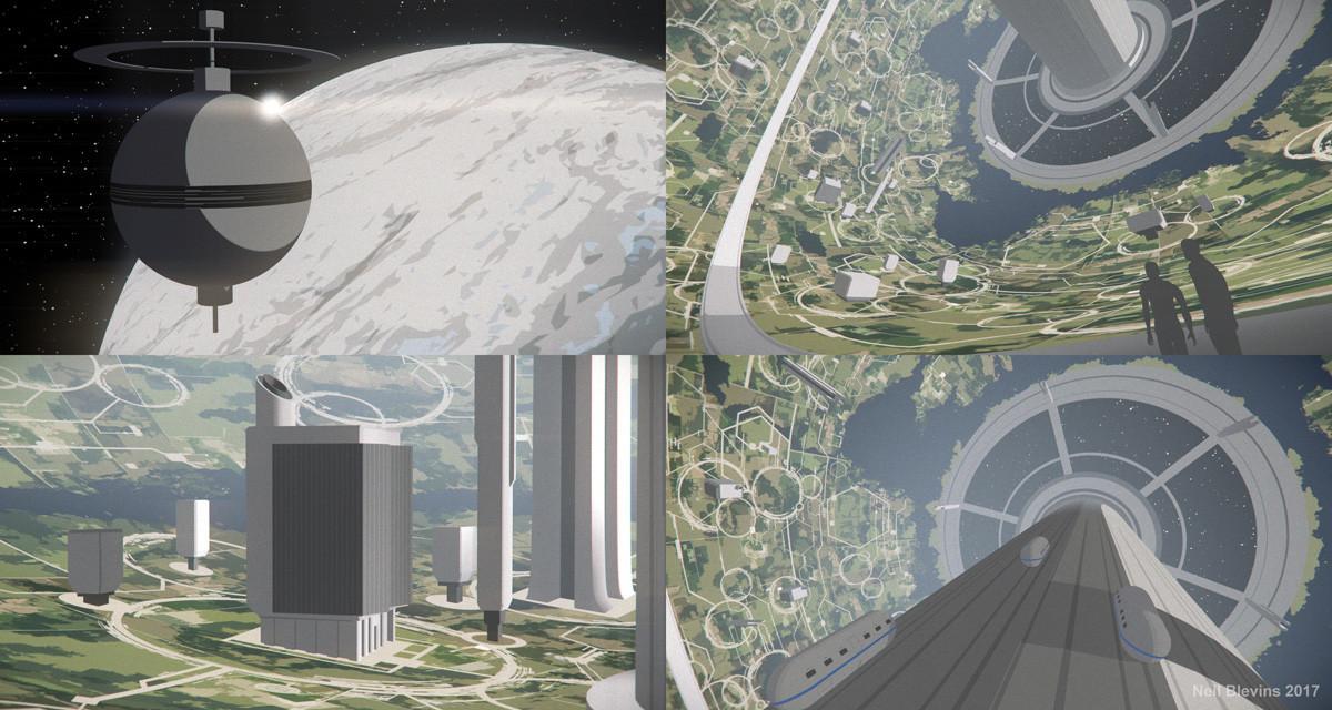 Neil blevins megastructures 8 bernal sphere 3d sketch