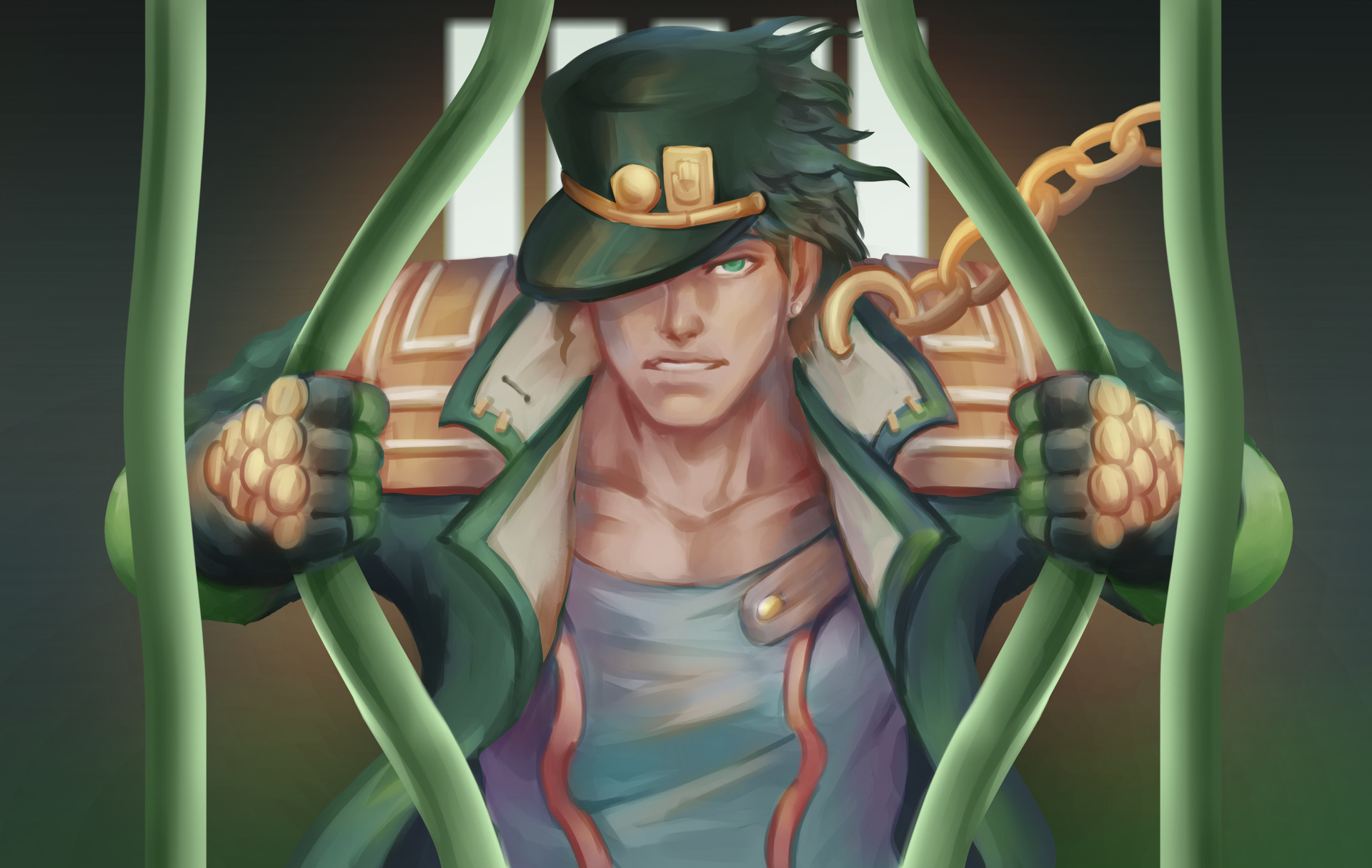 ArtStation - Jotaro Kujo fan art, Wong Yinyi