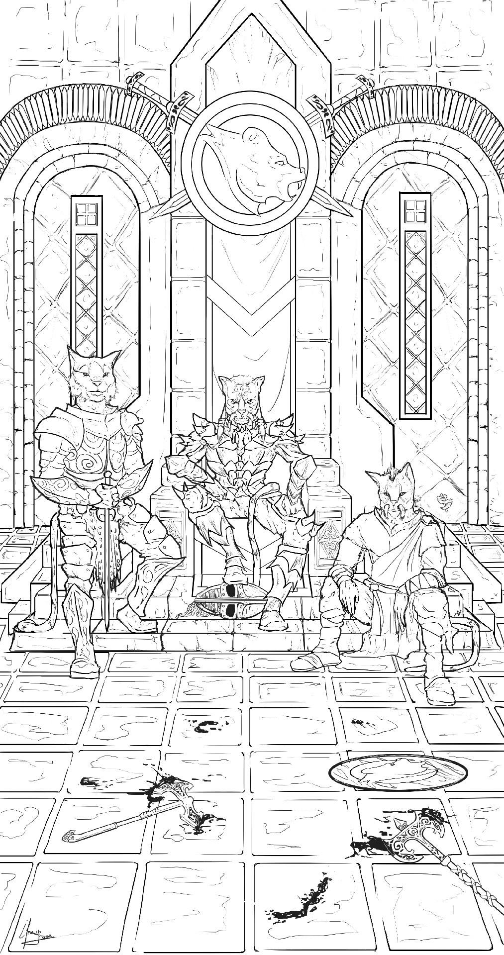 Efrain sosa los khajiitas en el trono linea
