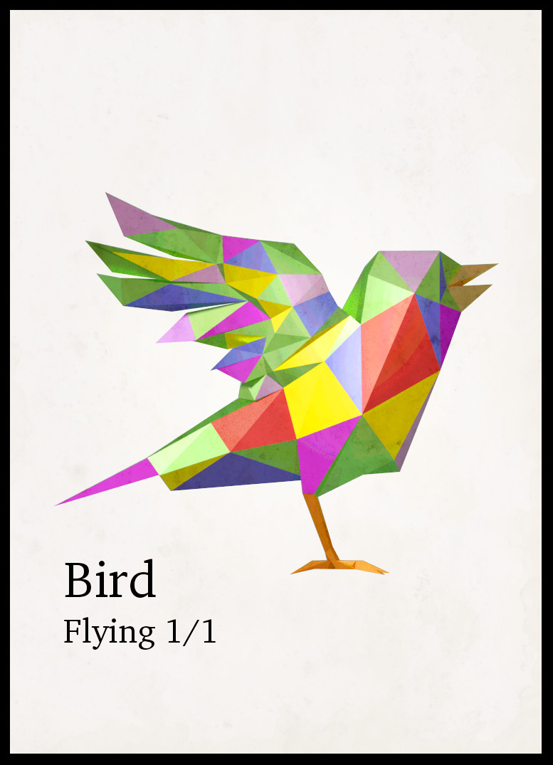 Bird token - rainbow