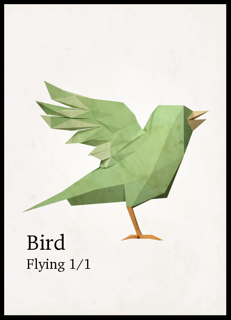 Bird token - green