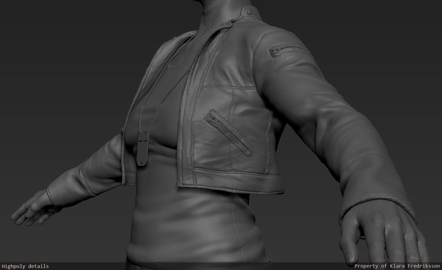 Klara fredriksson highpolydetails jacket