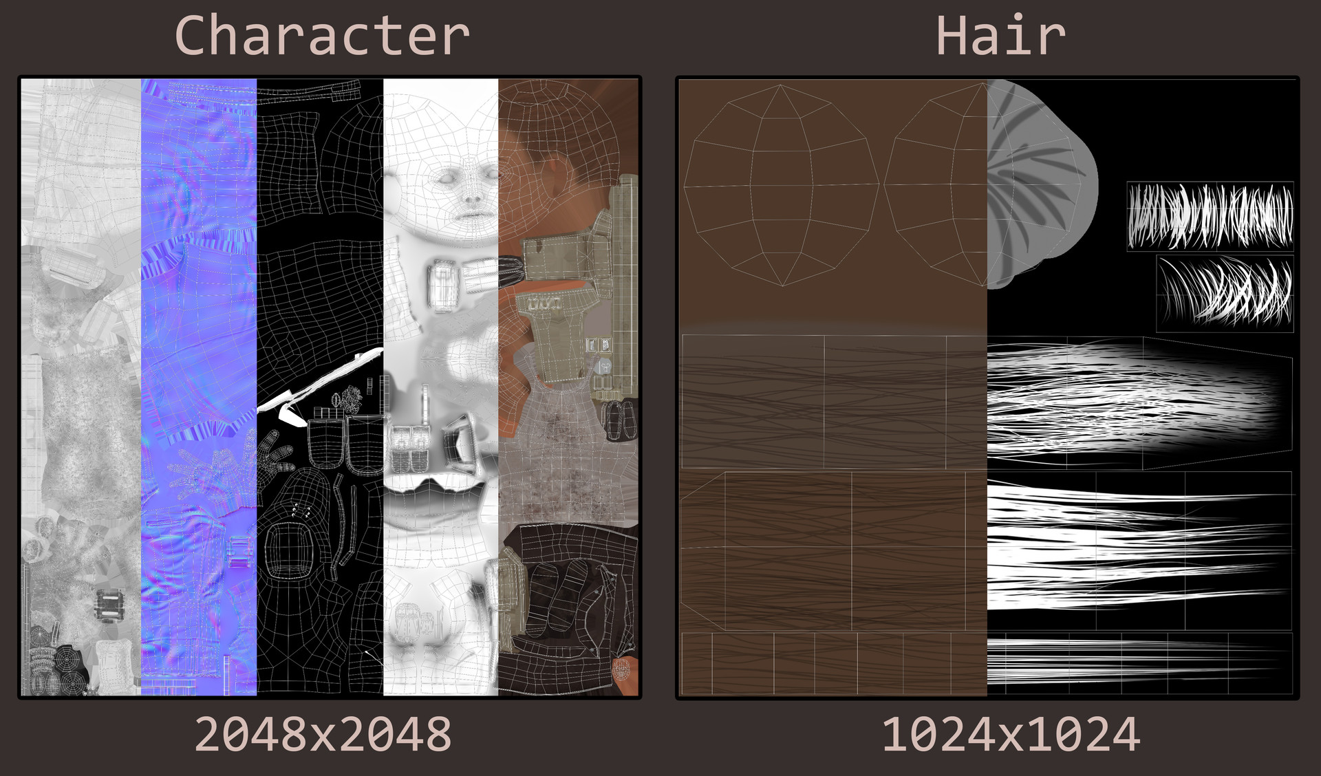 Klara fredriksson texturesheets characterandhair