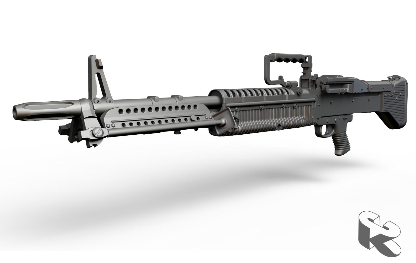 ArtStation - Vietnam Era M60 Machine Gun, Kourtney Coats