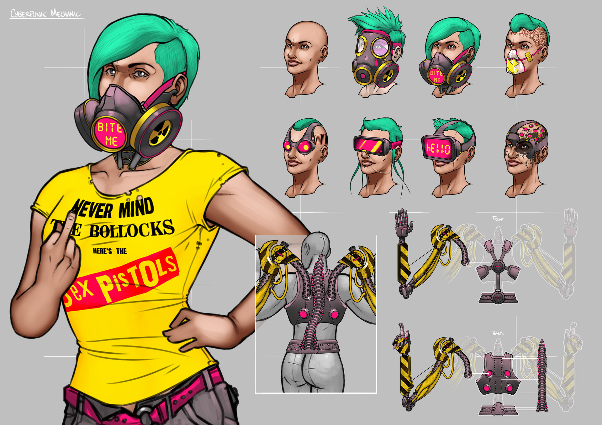 Tudor morris cyberpunk gal portfolio