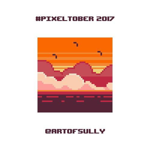 #pixeltober - Day 1 - 'Sunset'