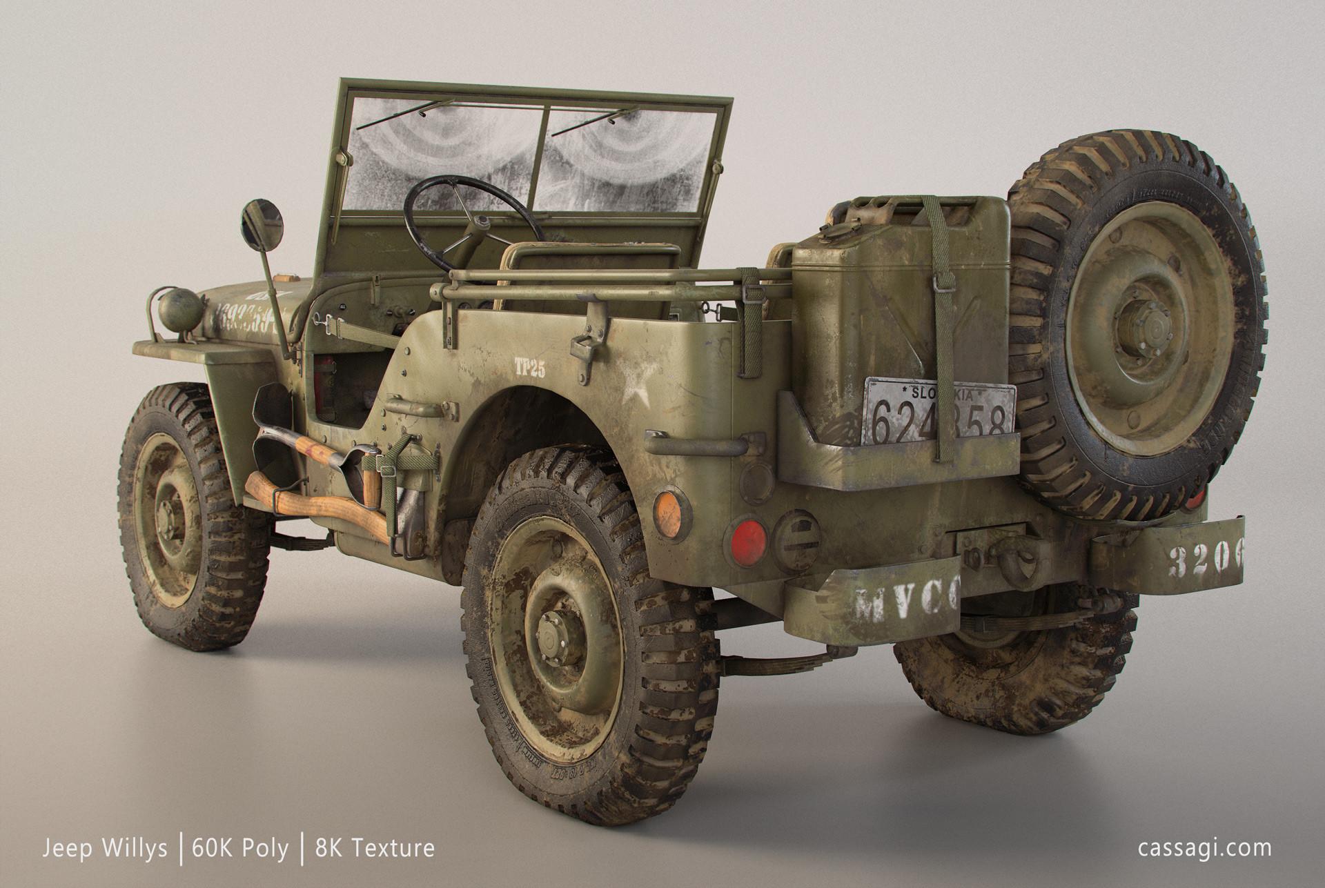 Artstation Willys Jeep Game Asset Martin Ostrolucky