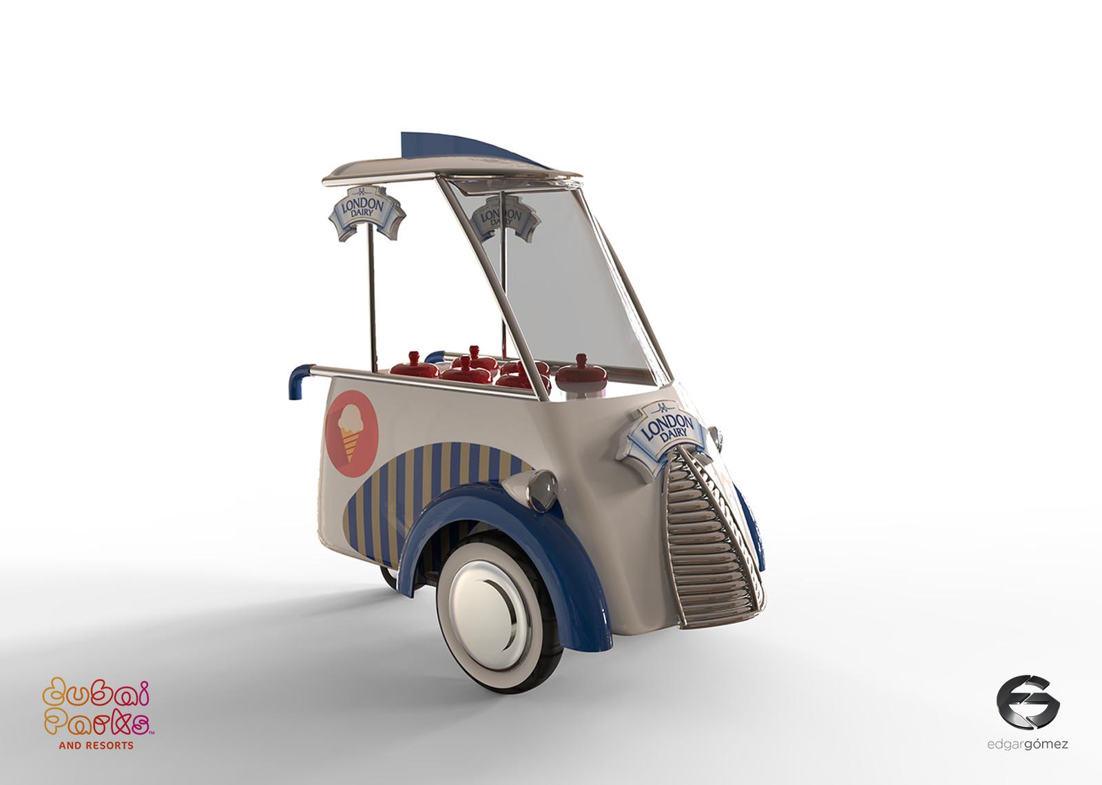 50's / 60's Ice Cream Trolley