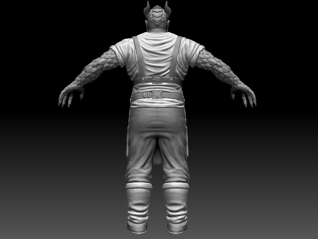 Rear view sculpt