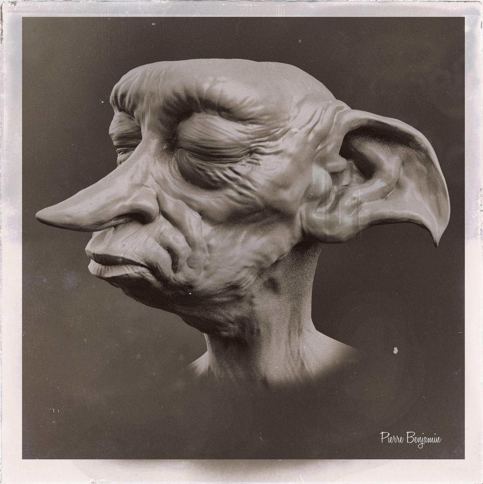 Dobby the House Elf speed sculpt WIP